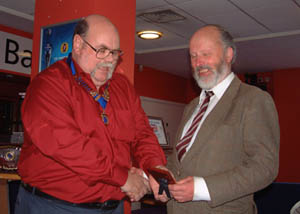 John G0GWK receiving his Annual Activity Award