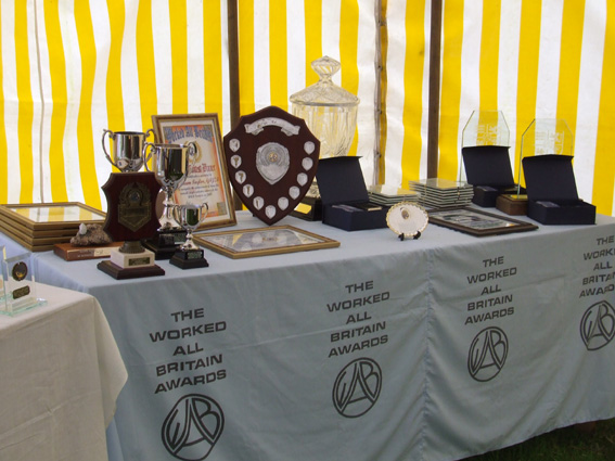 The Contest Trophies and Certificates ready to be presented