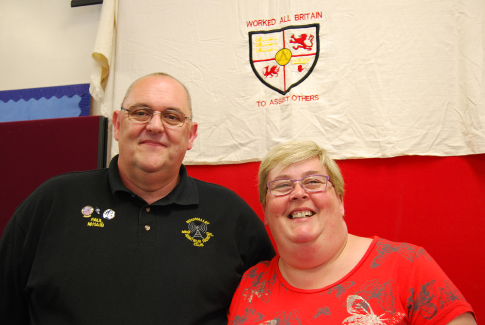 Paul Lewis MI1AIB and Sharon Lewis 2I0SHZ - Northern Ireland Representatives on the committee