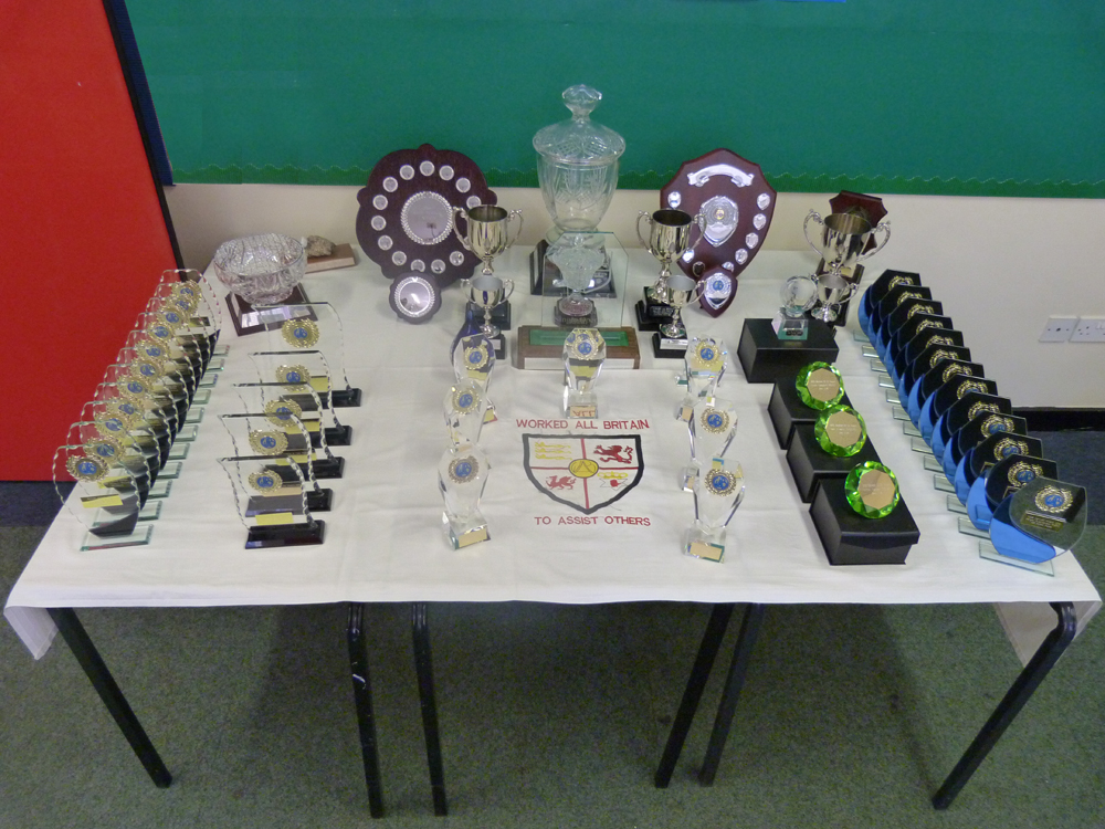 Trophies ready for presentation