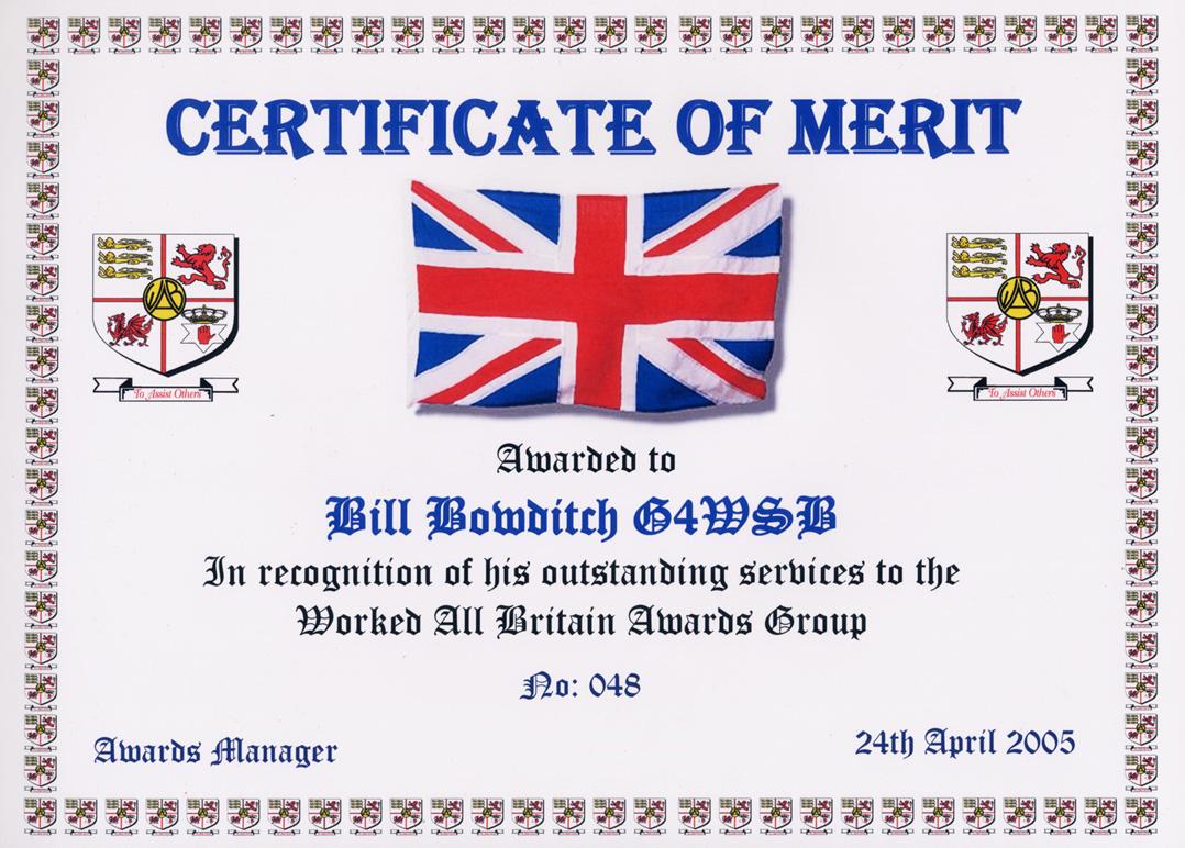 merit award certificate template .