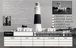 Alderney QSL Card rear