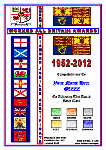 W.A.B. Queen's Diamond Jubilee Award certificate