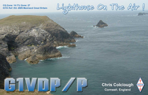 G1VDP/P QSL Card front