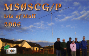 MS0SCG/P QSL Card front
