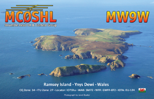 Ramsey Island QSL Card front