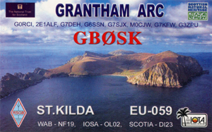 GB0SK QSL Card front