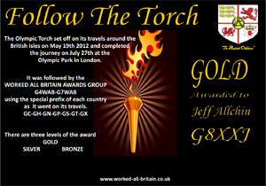 W.A.B. Follow The Torch Award certificate